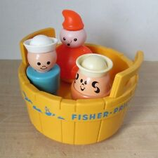1970 Vintage 3 Three Men In A Tub Toddler Bath Toy #142 Fisher Price & Other #2