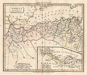 1830 ANCIENT MOROCCO ALGERIA TUNISIA LIBYA AFRICA GENUINE ANTIQUE MAP SOUTER