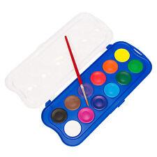 12 GIOTTO ACQUERELLI Acquerello Vernice a colori blocchi e arte Pennello Pittura Set