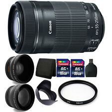 Canon EF-S 55-250mm IS STM Lens for Canon Camera + 58mm Premium Accessory Bundle