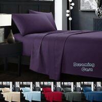 Egyptian Comfort 1800 Count 4 Piece Deep Pocket Bed Sheet Set King Queen Size R5