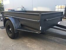 BRAND NEW OFF ROAD BOX TRAILER 8X5FT H DUTY CAMPING 1450KG ATM 7x4 8x4 AVAL