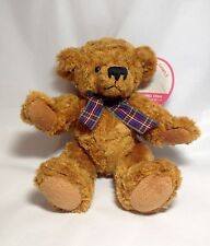 """Vintage Jointed Teddy Bear Rare Factory Sample Plush JUNG HWA Brown 10"""" Tall NWT"""
