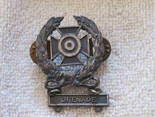 Vintage WWII Military Marksman Grenade Metal Lapel Pin