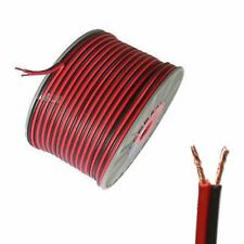 100m 2x 0.75mm 18AWG Black/Red Strand Loud Speaker Cable Wire Home/Car Audio