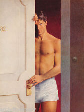 POSTER:SEXY MALE MODEL LOOKING OUT DOOR by NICK BACKES  FREE SHIP #P12 RP82 H-L