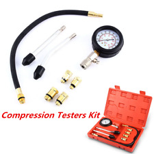 Professional Petrol Gas Engine Cylinder Compression Tester Gauge Kit Auto Tools