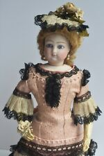 Antique French François Gaultier Bisque Fashion Doll Kid Body