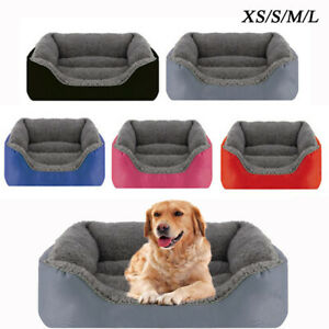 Pet Dog Cat Bed Soft Warm Kennel Mat Pad Blanket Puppy Cushion Washable 4 Sizes