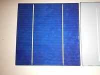 "50 Solar cells 2BB(Buss Bar) 6"" x 6"" (156mm x 156mm) 17.2 EFF. over 4 watts ea."