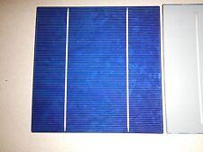 "100 Solar cells 2BB(Buss Bar) 6"" x 6"" (156mm x 156mm) 17.2 EFF. over 4 watts ea."