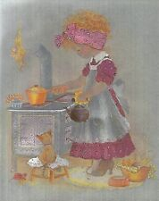 """Dufex Foil Picture Print - Boiling Up For Tea - 8"""" x 10"""" size picture"""