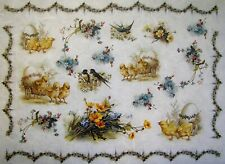 Rice Paper for Decoupage Scrapbook and Craft Easter Birds and Flowers 185