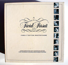 TRIVIAL PURSUIT - FAMILY EDITION MASTER GAME - PARKER GAMES - COPYRIGHT 1988