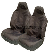 Ford Focus ST -  Heavy Duty Black Waterproof Car Seat Covers - 2 x Fronts