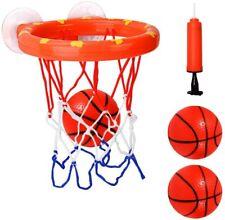 Cyfie Bath Toy Basketball Hoop & Balls Set, Bathtub Office Balls Playset