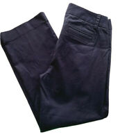 "8P J.Crew Petite Women's Navy Blue Chino City Fit Stretch 27"" Inseam"