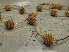Vintage TRIFARI Gold Tone Textured Beads Necklace #55