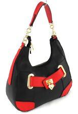 Women Padlock Pu Leather Handbag Large Multi Pocket Cabin Bag Shoulder Chain Bag