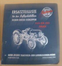 """Eicher Dieselschlepper """"Tiger"""" EM200 Ersatzteilkatalog"""