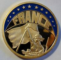 FARB-ECU 1993 - France / Frankreich - teil-vergoldet PP / PROOF - mit Zertifikat