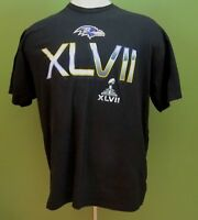 NFL Super Bowl XLVII Baltimore Ravens Me's T-Shirt 2XL 2X-Large