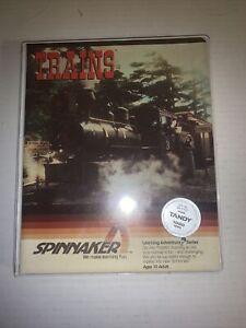 Vintage Spinnaker Trains Software for Tandy 1000 128K TT20 S28 Open Box S28