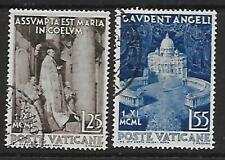 VATICAN - 1951.Proclamation of Dogma of the Assumption - Set of 2, Used. Cat £20