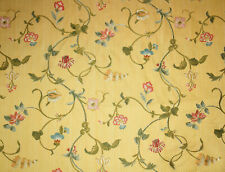 1 Yard Scalamandre Colony MILLEFIORI Yellow Gold Lampas Brocade Fabric BTY