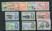 Turks & Caicos 1950 set SG221/33 fine fresh MVLH
