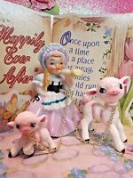 Vtg ARDALT Little Bo Peep Nursery Rhyme Story Book Girl With Two Lambs Sheep