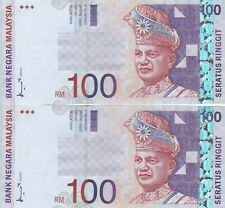 2 Pcs RM100 Ahmad Don SIDE-SIGN UNC Malaysia