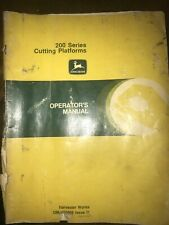 John Deere 200 Series Cutting Platform Operator's Manual Oem #Om-H98966