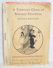 1939 Book A Treasure Chest Of Nursery Favorites Junior Edition Rand McNally HC