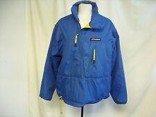 """Mens Ladies Ski Jacket Berghaus blue nylon, padded, chest 42-44"""", pull-on, 7403"""