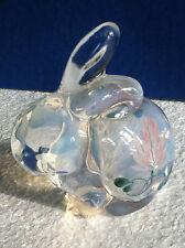 Fenton Opalescent Glass Bunny Figurine