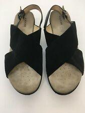 Geox, Sandals, Abbie D, Black, Platform, Flatform, Size 39.5