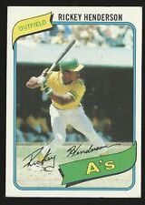 New listing 1980 Topps #482 - Rickey Henderson Rookie RC - Oakland A's🔥