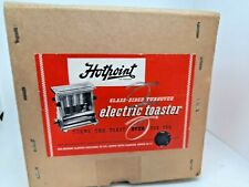 More details for vintage 1940's hotpoint vintage 2 slice self turning glass door toaster boxed