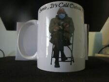 Bernie Sanders Mittens Mug   Coffee Cup At Biden Inauguration