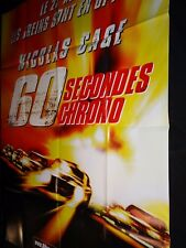 60 SECONDES CHRONO nicolas cage angelina jolie   affiche cinema ford mustang