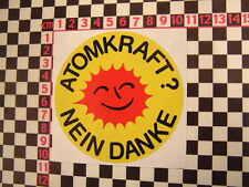1970's German Anti Nuclear Sticker - CND Ban The Bomb Classic Car Auto
