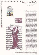 Document Philatélique Timbre 1er Jour : 13/07/ 2006 - Rouget de Lisle