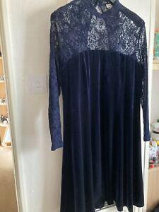 monsoon blue velvet dress