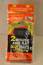 FOUR Mouse and Rat GLUE Traps 2 Packs of two each FREE SHIP