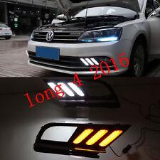 Exact Fit VW Jetta MK7 2015-up LED Daytime Running Light DRL Fog Lamp w/ Signals