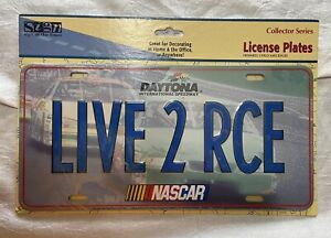 "Nascar Daytona International Speedway License Plate Sign ""Live 2 RCE"""