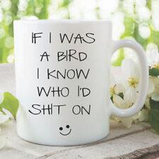 Novelty Funny Joke Coffee Mug Bird Cup Gift Bird Lover Banter Witty WSDMUG1059