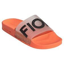 Adidas Originales X Fiorucci Mujer Adilette deslizadores diapositivas naranja playa de vacaciones