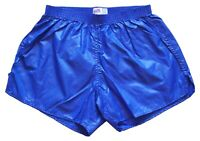 Blue Shiny Nylon Shorts by Soffe - Size Large